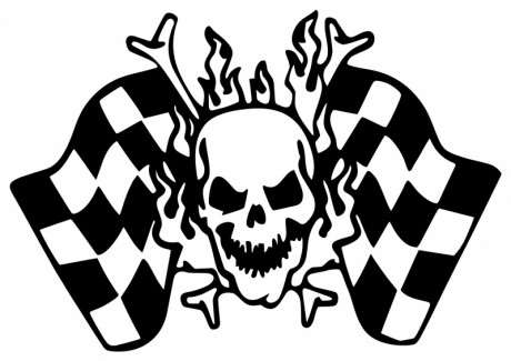 SKULL-RACING-CHECKERED-FLAG-0599
