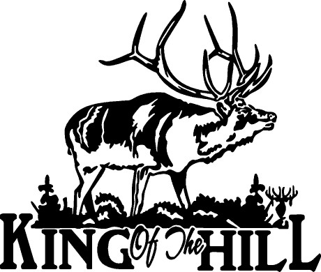 elk hunting decal king